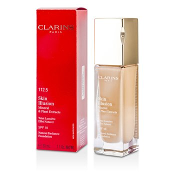 Clarins Skin Illusion Base Resplandor Natural SPF 10 - # 112.5 Caramel  30ml/1.1oz