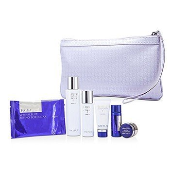 Shiseido Set Revital: Espuma Limpiadora I 20g + Loción EX II 75ml + Hidratante EX II 30ml + Loción AA 20ml + Crema AAA 7ml + Mascarilla de Ojos 1par + Bolso  6pcs+1bag