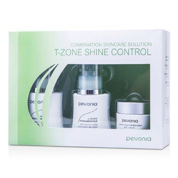 Pevonia Botanica Combination Skincare Solution - T-Zone Shine Control: Cleanser 50ml/1.7oz + Lotion 50ml/1.7oz + Cream20ml/0.7oz  3pcs