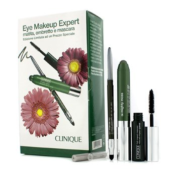 Clinique Eye Makeup Expert (1x Delineador, 1x Sombra en Barra, 1x High Impact M�scara) - Green  3pcs