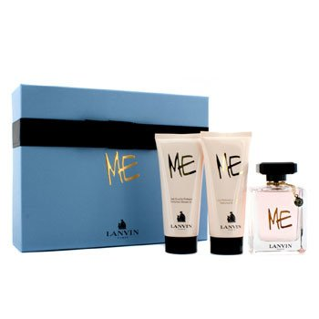 Lanvin Me Coffret: Eau De Parfum Spray 80ml/2.6oz + Loción Corporal 100ml/3.3oz + Gel de Ducha 100ml/3.3oz  3pcs