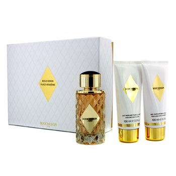 Boucheron Place Vendome Coffret: Eau De Parfum Spray 100ml/3.3oz + Loción Corporal 100ml/3.3oz + Gel de Baño & Ducha 100ml/3.3oz  3pcs
