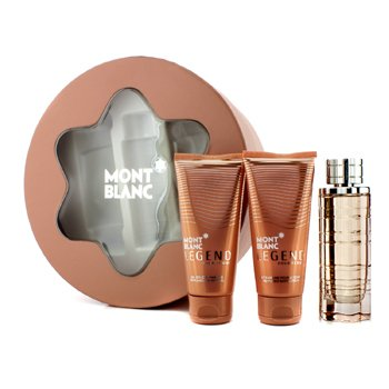 Mont Blanc Legend Pour Femme Coffret: Eau De Parfum Spray 75ml/2.5oz + Body Lotion 100ml/3.3oz + Shower Gel 100ml/3.3oz (Round Box)  3pcs