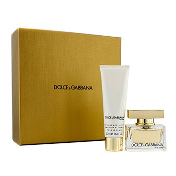 Dolce & Gabbana The One Coffret: Eau De Parfum Spray 30ml/1oz + Body Lotion 50ml/1.6oz (Champagne Gold Box)  2pcs