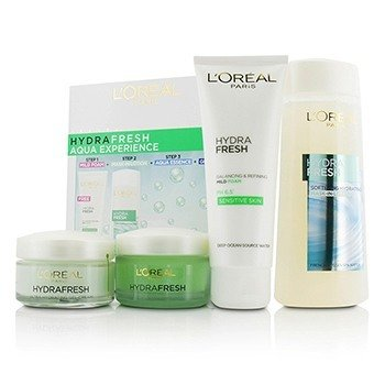 L'Oreal Hydrafresh Aqua Experience: Mask-In Lotion 200ml + Gel Foam 100ml + Aqua-Essence 50ml + Gel-Cream 50ml  4pcs