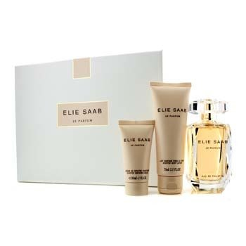 Elie Saab Le Parfum Coffret: Eau De Toilette Spray 90ml/3oz + Loción Corporal Aromatizada 75ml/2.5oz + Crema de Ducha 30ml/1oz  3pcs