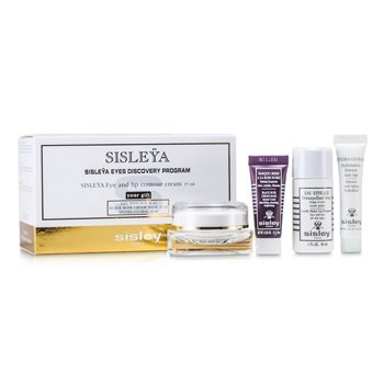 Sisley Sisleya Eyes Discovery Program: Crema de Ojos & Labios 15ml + Removedor de Maquillaje 30ml + Crema Mascarilla 10ml + Hydra-Global 10ml  4pcs