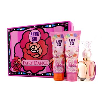 Anna Sui Secret Wish Fairy Dance Coffret: Eau De Toilette Spray 50ml/1.7oz + Loción Corporal 90ml/3oz + Gel de Ducha 90ml/3oz  3pcs