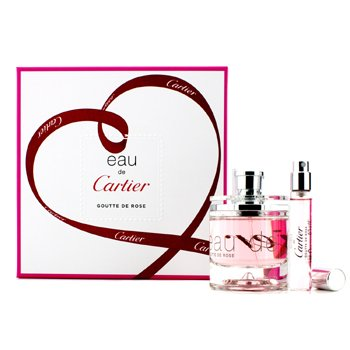 Cartier Eau De Cartier Goutte De Rose Coffret: Eau De Toilette Spray 50ml/1.6oz + Eau De Toilette Spray 9ml/0.3oz  2pcs