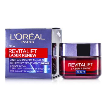 L'Oreal Tratamento Noturno Revitalift Laser Renew Anti-Ageing Cream-Mask Recovery  50ml/1.7oz