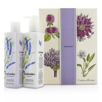 Crabtree & Evelyn Lavender Perfect Pair: Bath & Shower Gel 250ml + Body Lotion 245ml  2pcs