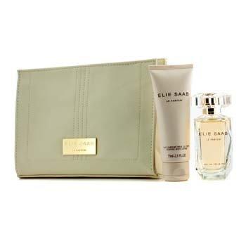 Elie Saab Le Parfum Coffret: Eau De Toilette Spray 50ml/1.6oz + Body Lotion 75ml/2.5oz + Beauty Pouch  3pcs+1pouch
