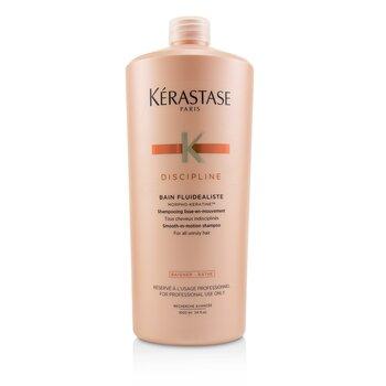 เคเรสตาส แชมพู Discipline Bain Fluidealiste Smooth-In-Motion Shampoo (สำหรับผมที่จัดทรงยากทุกประเภท)  1000ml/34oz