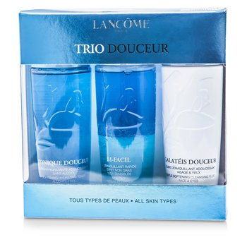 Lancome Trio Douceur - Bi-Facil Non Oily Instant Cleanser Sensitive Eyes 125ml + Galateis Douceur Gentle Sof  3pcs
