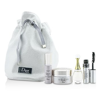 Christian Dior Set de Viaje: Capture Totale Crema  15ml + Dreamskin 7ml + J'Adore EDP 5ml + Máscara 4ml + Bag  4pcs+1bag