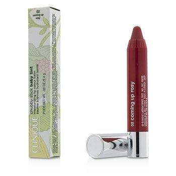 Clinique Chubby Stick Baby Tint Bálsamo Color de Labios Hidratante - # 02 Coming Up Rosy  2.4g/0.08oz