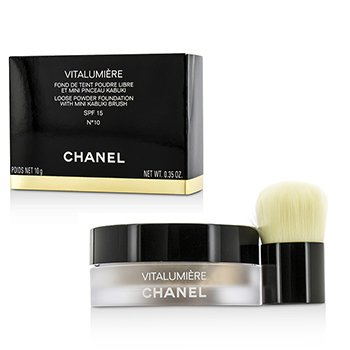 Chanel Pó Vitalumiere Loose Foundation SPF15 Com Mini Pincel Kabuki - # 10  10g/0.35oz