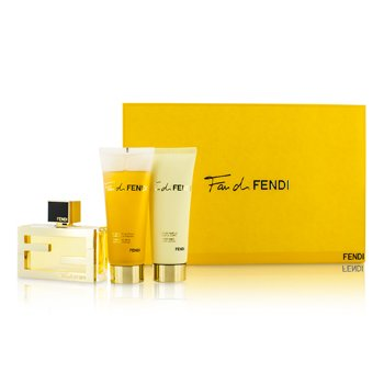 Fendi Fan Di Fendi Coffret: Eau De Parfum Spray 50ml/1.7oz + Loci�n Corporal 75ml/2.5oz + Gel de Ducha 75ml/2.5oz  3pcs