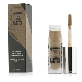 BareMinerals 5 v 1 krémové oční stíny a báze BareMinerals 5 In 1 BB Advanced Performance Cream Eyeshadow Primer SPF 15 - Sweet Spice  3ml/0.1oz