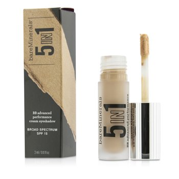 BareMinerals 5 v 1 krémové oční stíny a báze BareMinerals 5 In 1 BB Advanced Performance Cream Eyeshadow Primer SPF 15 - Candlelit Peach  3ml/0.1oz