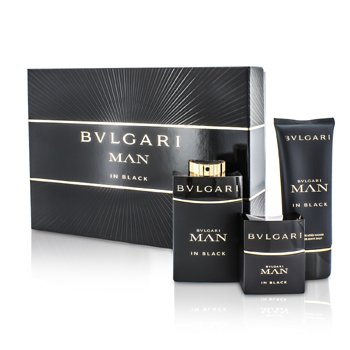 Bvlgari In Black Kofre: EDP Sprey 100ml/3.4oz + EDP Sprey 30ml/1oz + After Shave Balsam 100ml/3.4oz  3pcs
