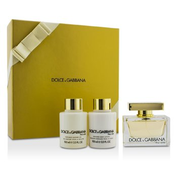 Dolce & Gabbana The One Coffret: Eau De Parfum Spray 75ml/2.5oz + Loci�n Corporal 100ml/3.3oz + Gel de Ducha 100ml/3.3oz  3pcs