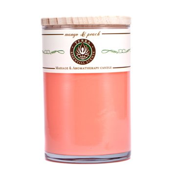 Terra Essential Scents Massage & Aromatherapy Candle - Lilin Wangi - Mango & Peach  12oz