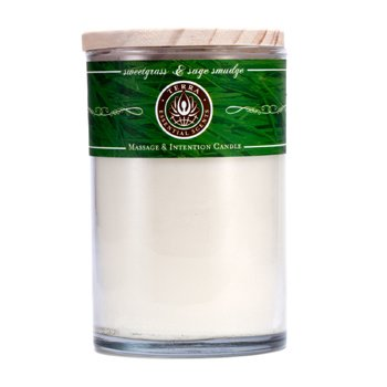 Terra Essential Scents Massage & Intention Candle - Sweetgrass & Sage Smudge  12oz