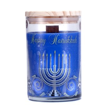 Terra Essential Scents Hand-Poured Soy Candle - Lilin Wangi - Happy Hanukkah  12oz