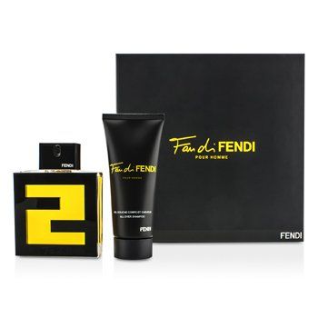 Fendi Fan Di Fendi Pour Homme Coffret: Eau De Toilette Spray 100ml/3.3oz + All Over Shampoo 100ml/3.3oz  2pcs