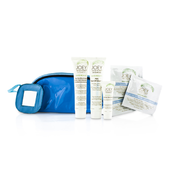Joey New York Total Perfecttion Skin Care Kit: Masque 41.4ml + Cleanser & Scrub 38ml + Bye Bye Blackheads 10ml + 3x Cleansing Wipes + Bag  6pcs+1bag