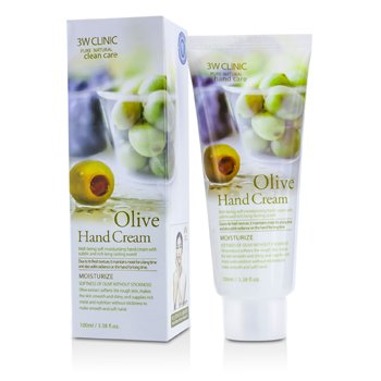 3W Clinic ครีมทามือ Hand Cream - Olive  100ml/3.38oz