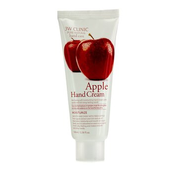 3W Clinic Hand Cream - Apple  100ml/3.38oz