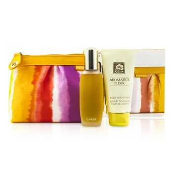Clinique Aromatics Elixir Coffret: Parfum Spray 45ml/1.5oz + Body Smoother 75ml/2.5oz + Bag  2pcs+1bag