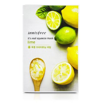 Innisfree It's Real Squeeze Mask - Lime  10pcs