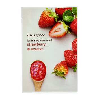 Innisfree It's Real Squeeze Mask - Strawberry  10pcs