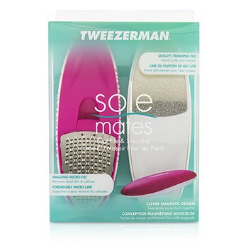Tweezerman Sole Mates Foot The Perfectly Matched Foot File & Smoother  (Mix n' Match Runway Collection)  2pcs