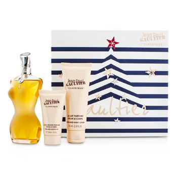 Jean Paul Gaultier Le Classique Coffret: Eau De Toilette Spray 100ml/3.3oz + Loci�n Corporal 75ml/2.5oz + Gel de Ducha 30ml/1oz  3pcs
