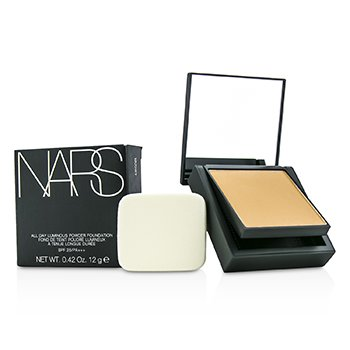 NARS All Day Base en Polvo Luminosa Con SPF25 - Barcelona (Medium 4 Medio con Tonos Durazno Dorado)  12g/0.42oz