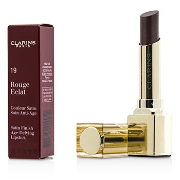 Clarins Rouge Eclat Satin Finish Age Defying Lipstick - # 19 Chestnut Brown  3g/0.1oz