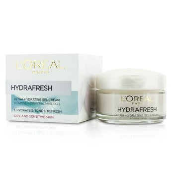 L'Oreal Hydrafresh Ultra-Hydrating Gel-Cream - For Dry & Sensitive Skin  50ml/1.69oz