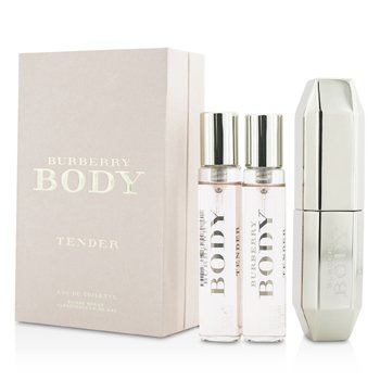Burberry Body Tender Eau De Toilette Purse Spray & 2 Refills  3x15ml/0.5oz