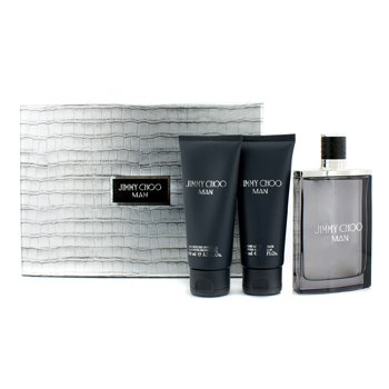 Jimmy Choo Man Coffret: Eau De Toilette Spray 100ml/3.3oz + After Shave Balm 100ml/3.3oz + All Over Shower Gel  3pcs