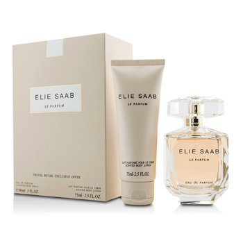 Elie Saab Le Parfum Coffret: Eau De Parfum Spray 90ml/3oz + Body Lotion 75ml/2.5oz  2pcs