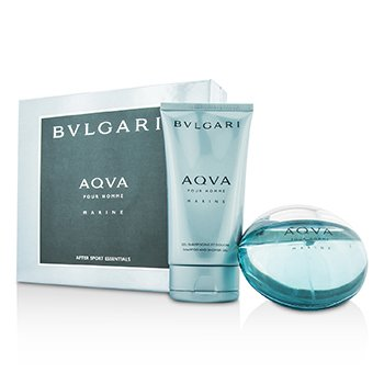 Bvlgari Aqva Pour Homme Marine Coffret: Eau De Toilette Spray 100ml/3.4oz + Gel Ducha 150ml/5oz  2pcs