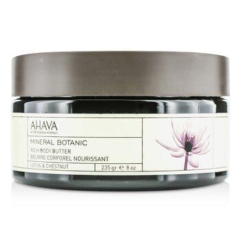 Ahava Manteca Corporal Mineral Bot�nica - Lotus & Chestnut  235g/8oz