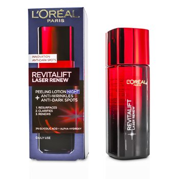 歐萊雅 Revitalift Laser Renew - Anti-Wrinkles+Anti-Dark Spots Peeling Lotion Night  125ml/4.23oz