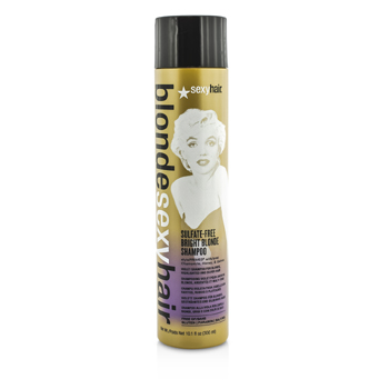 Sexy Hair Concepts Blonde Sexy Hair Bright Blonde Champú Libre de Sulfato (Para Cabello Rubio, Plateado o con Claritos)  300ml/10.1oz