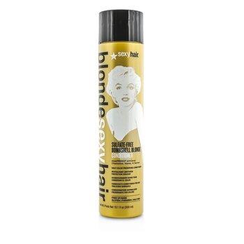 Sexy Hair Concepts Blonde Sexy Hair  Bombshell Blonde Acondicionador Libre de Sulfato (Preservador Diario de Color)  300ml/10.1oz