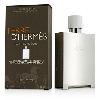 Hermes Terre D'Hermes Eau Tres Fraiche Eau De Toilette Refillable Metal Spray  150ml/5oz
